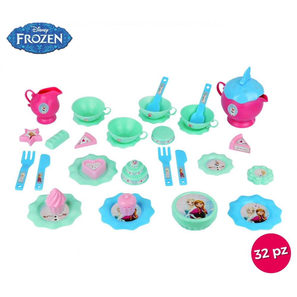 8709 Servizio da tè completo di 11 dolcetti e 32 accessori Disney Frozen