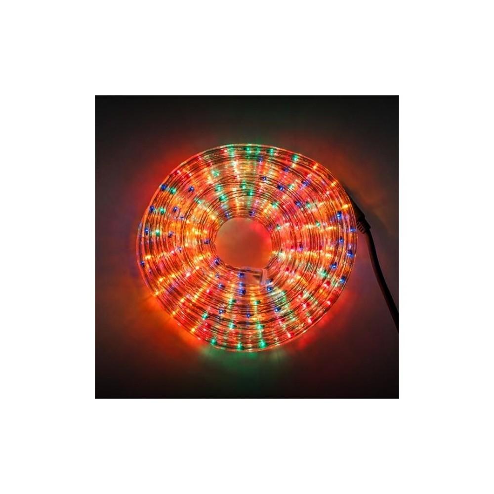 tubo di luci natalizie 360 lampadine multicolor da esterno