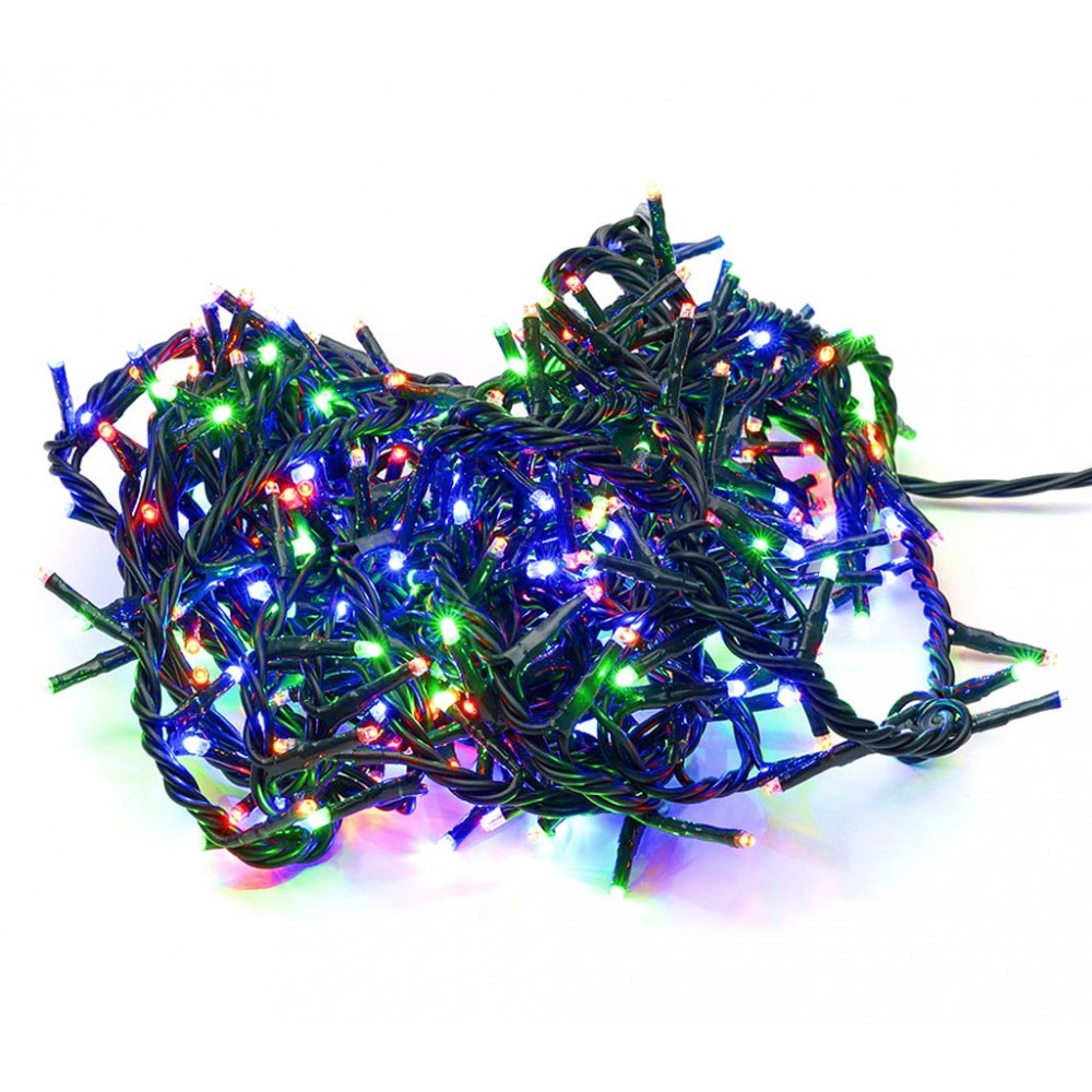 499623 Minilucciole natalizie multicolor 240 led 8 giochi di luci 11,56 metri