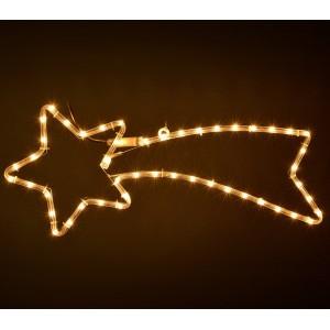 757228Stella cadente natalizia con luci bianche con telaio in metallo 130 cm