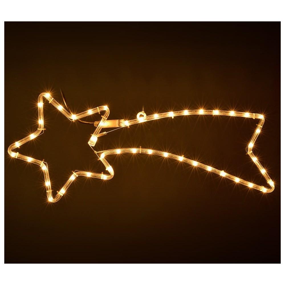 Stella Cadente Di Natale.757228 Stella Cadente Natalizia Luci Calde Telaio In Metallo 130 X 60