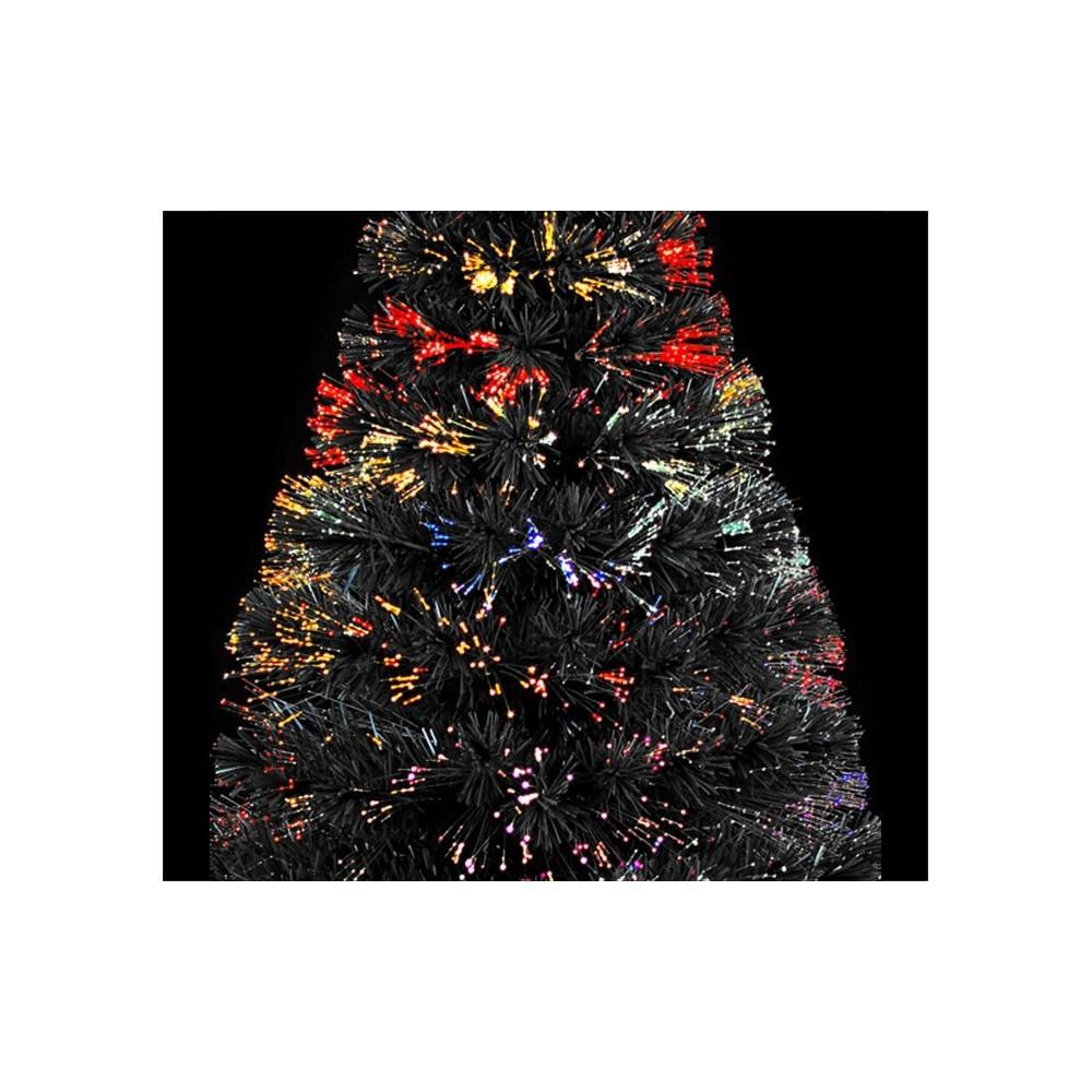 Albero Di Natale Nero.Albero Di Natale Nero In Fibra Ottica1400 Punte Luminose 120cm