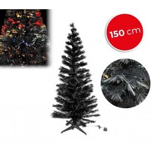 Image of 272394 Albero di Natale nero in fibra ottica luminose multicolore 150 cm 6985658963256