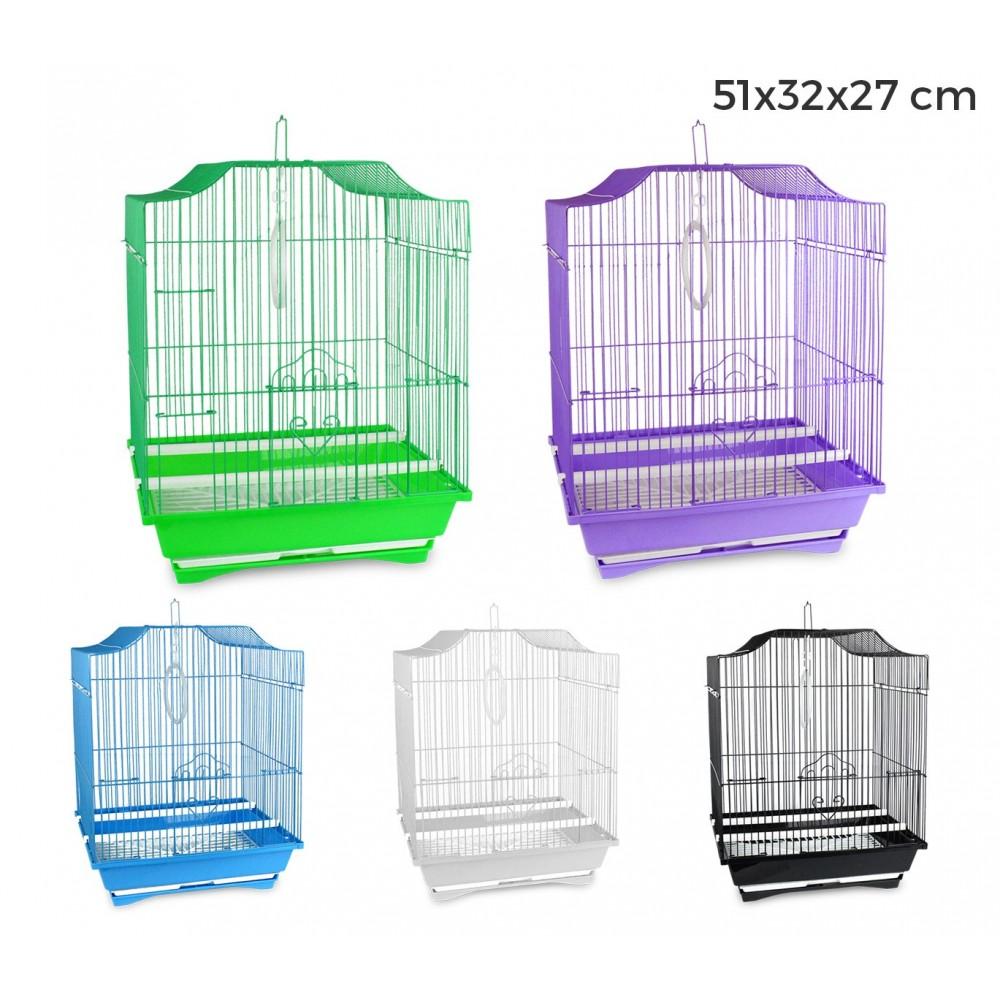 189108 Gabbia uccelli di piccole dimensioni FLY 43.5x28.5x22 cmdue mangiatoie