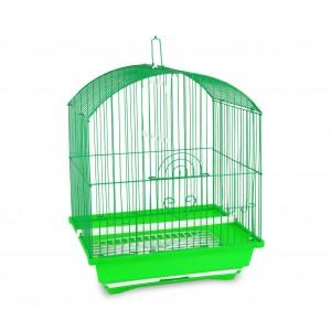 300Gabbia per uccelli di piccole dimensioni 62x38x27 cm con due mangiatoie