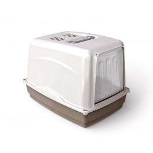 Image of 10582 Toilette per gatti VICKY porta basculante 54x39x39 cm carboni attivi 6992354001250