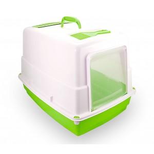 Image of 10580 Toilette per gatti HEIDI chiusa porta basculante carboni attivi 54x39x39cm 6944458103354