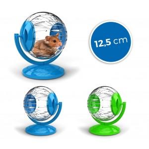 10574Mini twister toy per criceti e piccoli roditori ø12.5cm con supporto