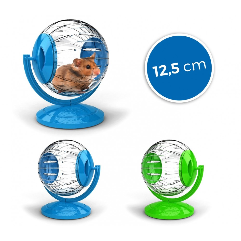 10574 Mini twister toy per criceti e piccoli roditori ø12.5cm con supporto