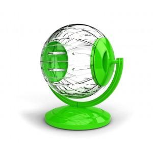 Image of 10574 Mini twister toy per criceti e piccoli roditori ø12.5cm con supporto 6903320336528