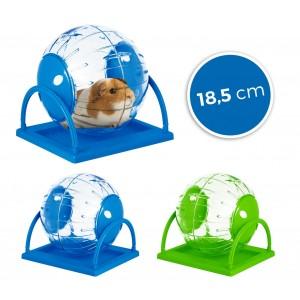 10579Twister toy per criceti e piccoli roditori ø18.5cm con supporto