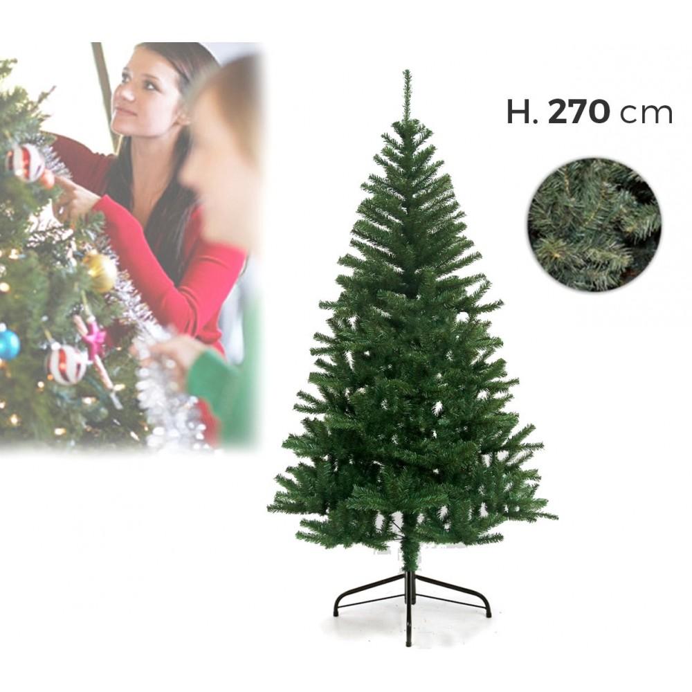 218156 Albero di Natale 270 cm 1400 punte rami folti PINO DELLE SORPRESE