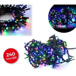 499623 Minilucciole natalizie MULTICOLORE 240 led 8 giochi di luci cavo Verde