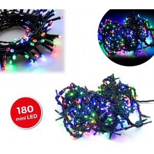 499111 Luci natalizie MULTICOLORE 180 led 8 giochi di luci cavo Verde