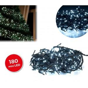 498923 Minilucciole natalizie 180 led bianchi 8 giochi di luci cavo Verde