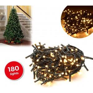 013485 Minilucciole natalizie 180 luci BIANCHE 8 giochi di luci cavo Verde