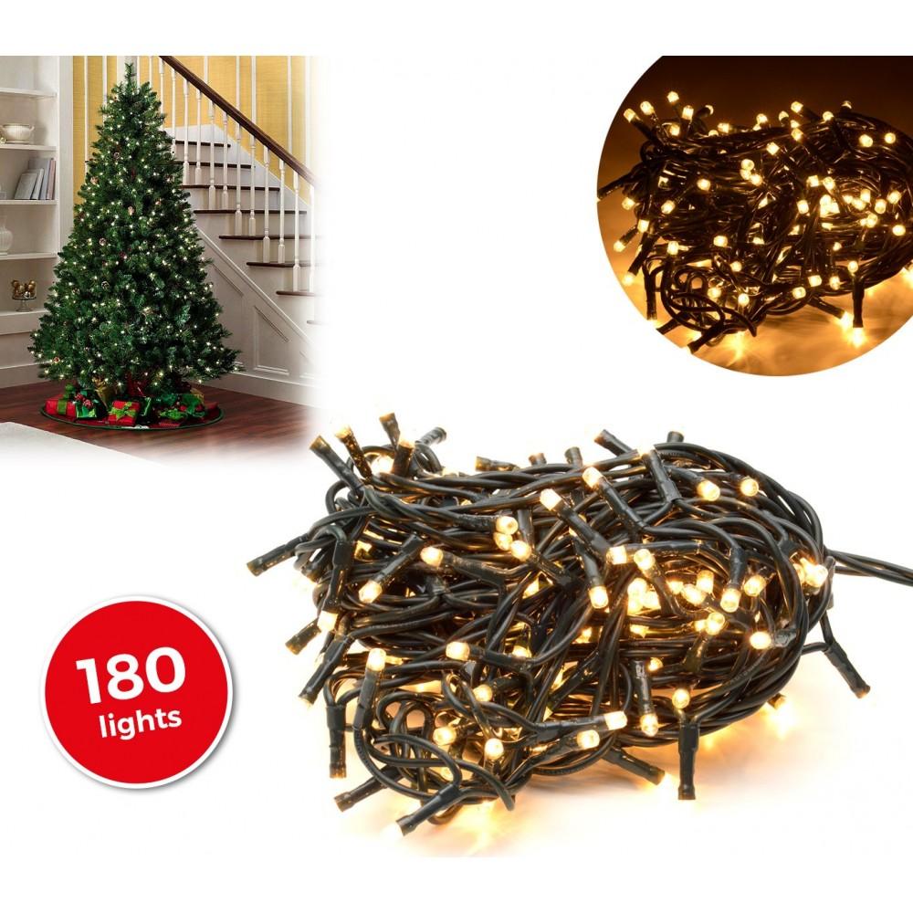 013485 Minilucciole natalizie 180 luci bianche 8 giochi di luci 9,16 metri