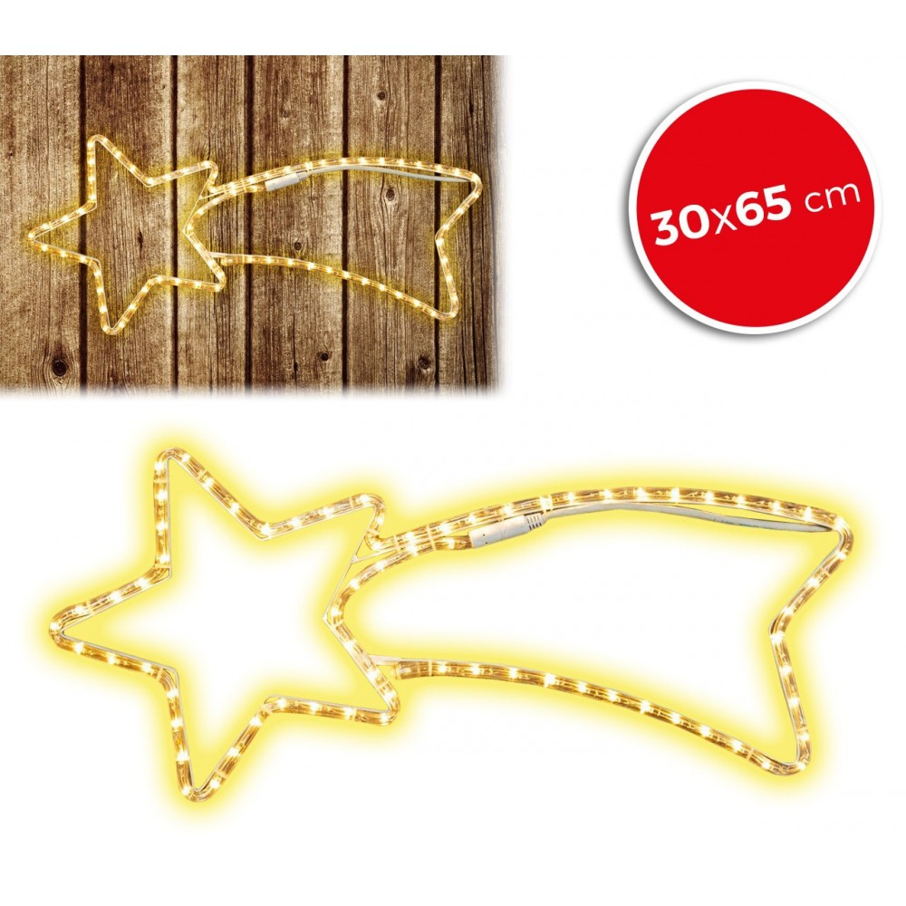 75181 Stella cadente natalizia luci CALDE telaio in metallo 65 x 30 cm