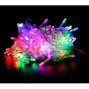 499678 Luci natalizie MULTICOLORE 240 led 8 giochi di luci cavo trasparente