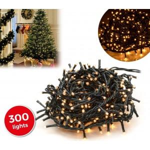 Image of 013584 Minilucciole natalizie 300 luci bianche 8 giochi di luci 13,49 metri 6966554747850