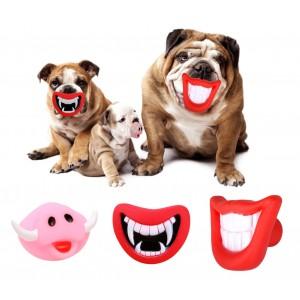 Image of 15968 Gioco da mordere per cani SMILE con suono in gomma naturale %EAN%