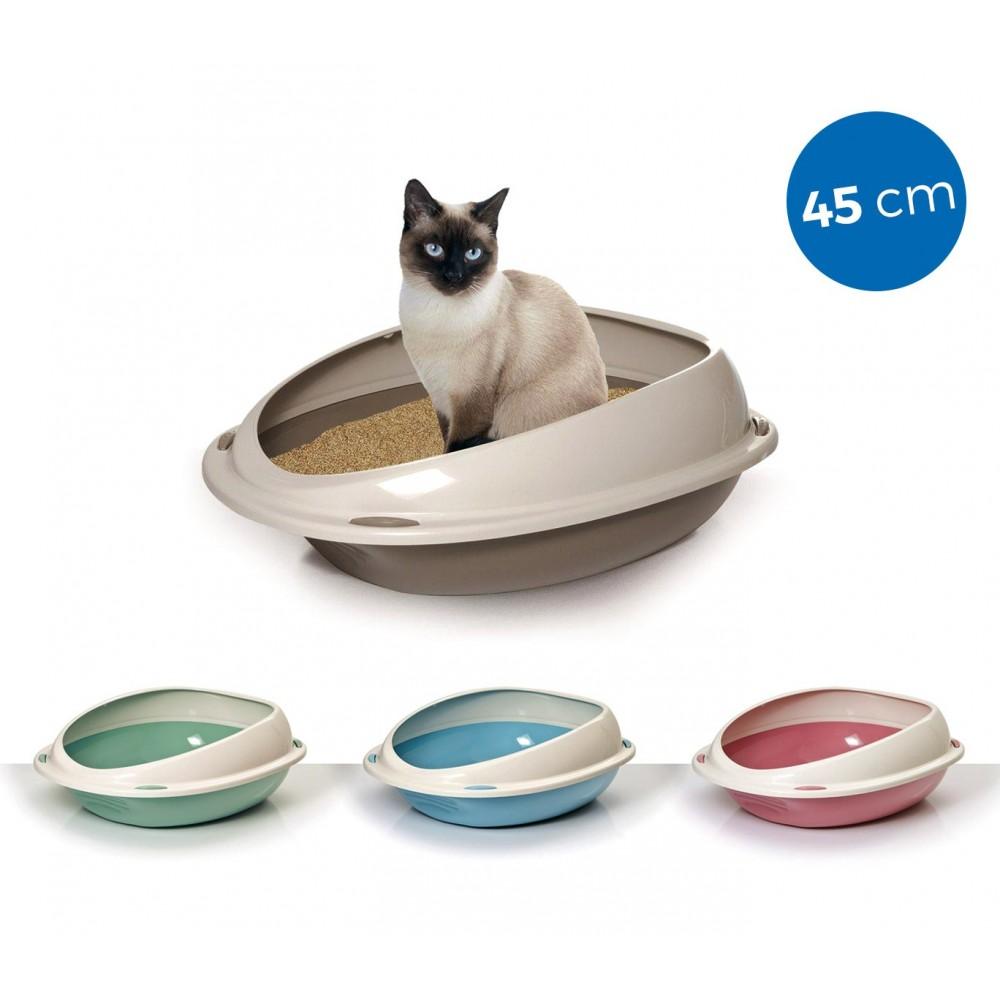 10530 Lettiera scoperta per gatti SHUTTLE con bordi rialzati salva sporco 45cm
