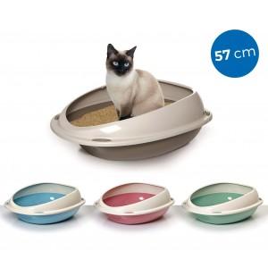 10533 Lettiera scoperta per gatti SHUTTLE con bordi rialzati salva sporco