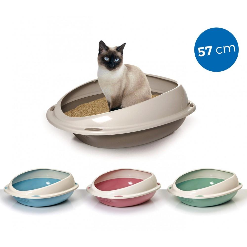10533 Lettiera scoperta per gatti SHUTTLE con bordi rialzati salva sporco 57cm