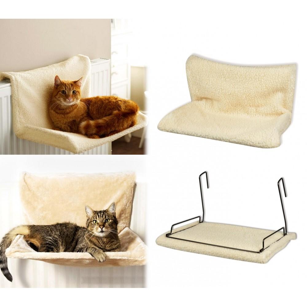 29450 Cuccia da termosifone per gatti RELAX 46x30x26cm sfoderabile e lavabile