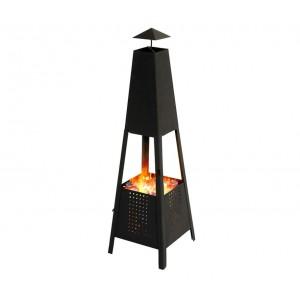 65865 Stufa a legna o carbonella da giardino piramidale altezza c.a 100cm