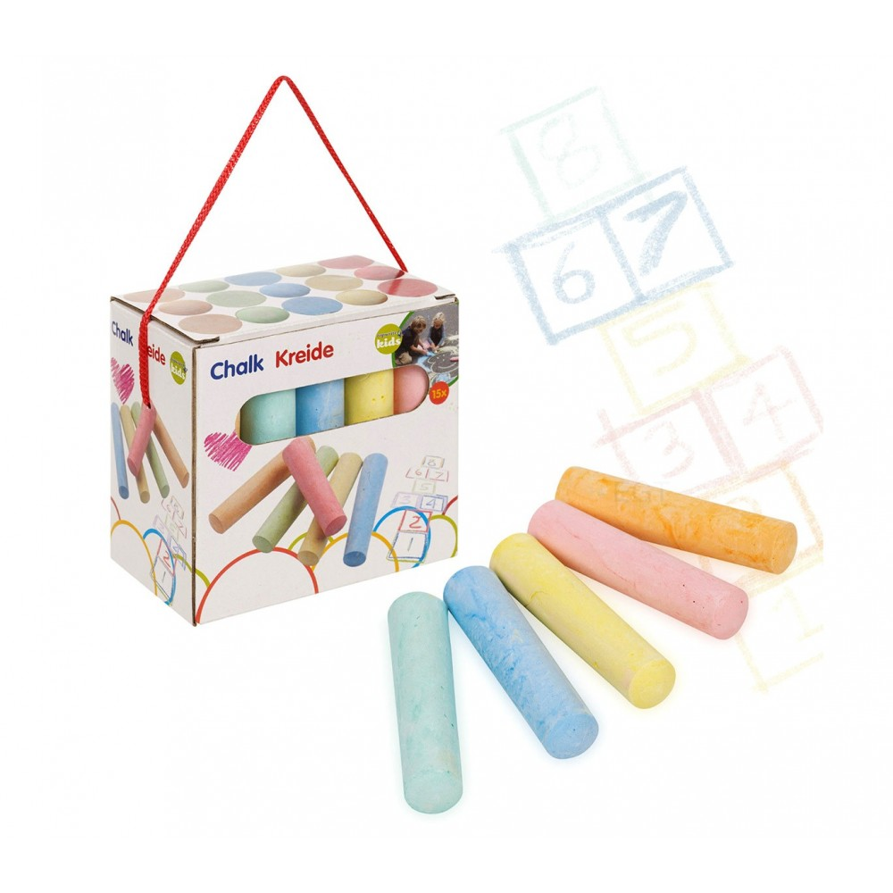 9726 Confezione di 15 MAXI gessi colorati per disegni su strada