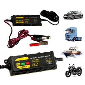 48736 Mantenitore di carica per batteria auto moto barca e camion da 6 a 12V