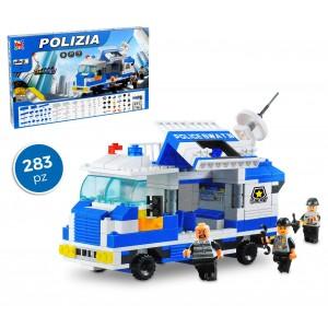 Image of 37791 Playset mattoncini stazione mobile polizia 283pz da assemblare mod. B 6999854782009