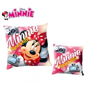 17414 Cuscino quadrato MINNIE SUPERSTAR 40x40cm morbidissimo
