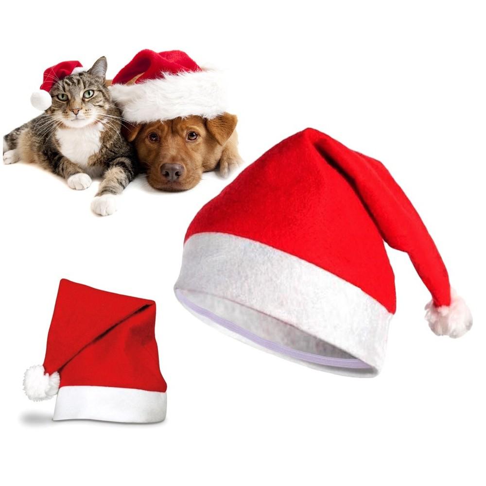 790733 Cappello da BABBO NATALE per animali di taglia piccola e media