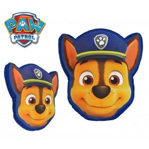 16141 Cuscino decorativo Paw Patrol viso di CHASE 3D da collezione 43x35cm