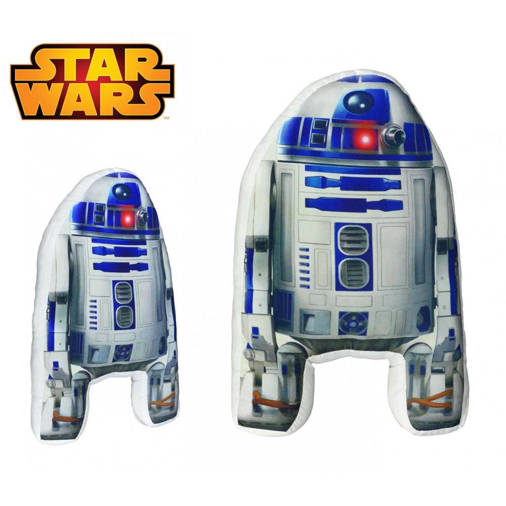 SW16527 Soffice cuscino 3D STAR WARS da collezione Robot R2-D2 40x25x5 cm