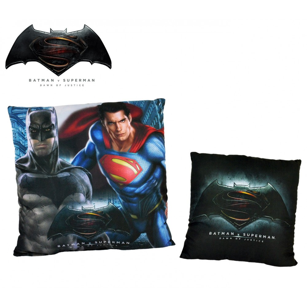 WA16009 Cuscino decorativo quadrato Batman VS Superman DAWN OF JUSTICE  40x40 cm