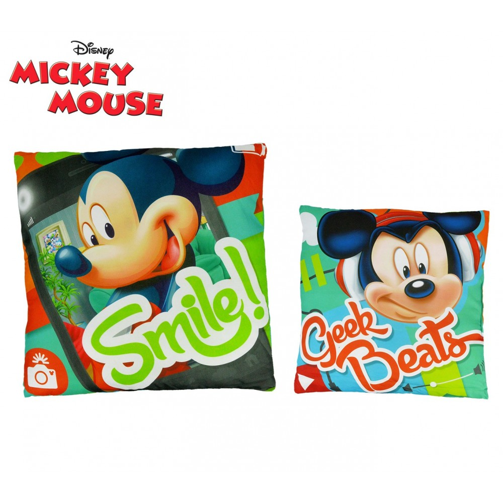 WD16467 Cuscino morbido 40x40 cm Mickey Mouse GEEK BEATS allegro e decorativo