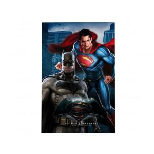 MW160301 Plaid in morbido e caldo pile BATMAN VS SUPERMAN 100x150cm
