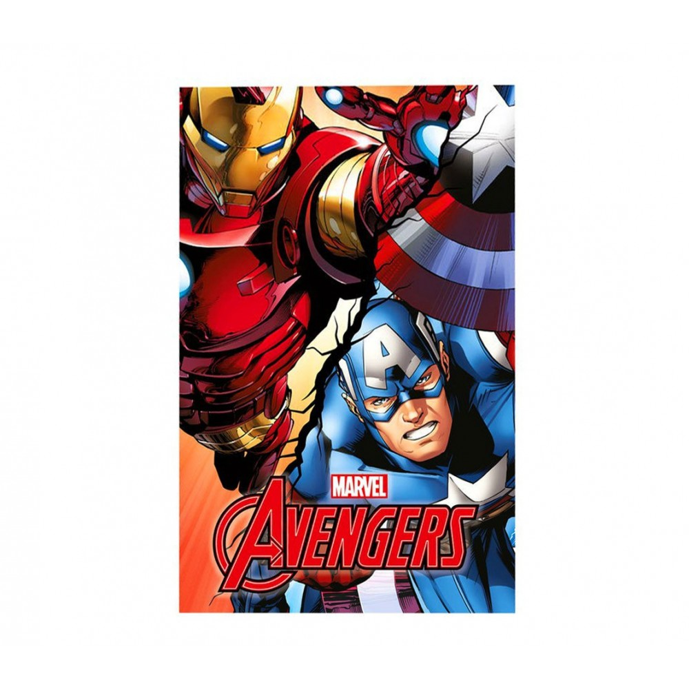 MV92339 Coperta in morbido e caldo pile THE AVENGERS 100 x 150 cm plaid