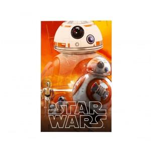 SWE70259 Coperta in morbido e caldo pile  DRONE BB-8 Star Wars 100 x 150 cm