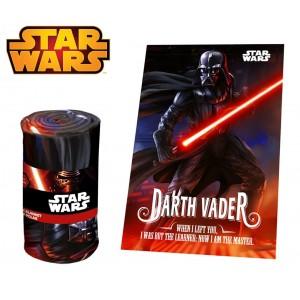 SW92242 Coperta in morbido e caldo pile  DARTH VADER  Star Wars 100 x 150 cm