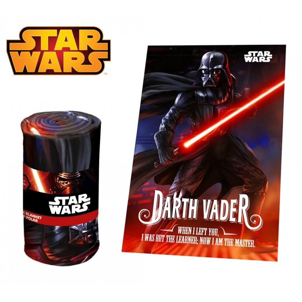 SW92242 Coperta in morbido e caldo pile DARTH VADER Star Wars 100 x 150 cm plaid