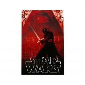 SWE70258 Calda e morbida coperta in pile KYLO REN Star Wars 100 x 150cm