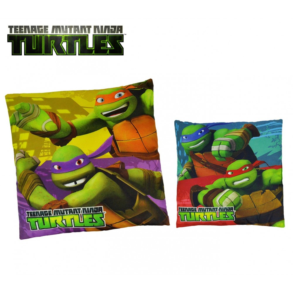 TN16005 Morbido e allegro cuscino quadrato 40x40cm TEENAGE Ninja Turtles