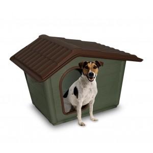 768707 Cuccia in materiale 100% riciclato a forma di casetta per cani piccoli