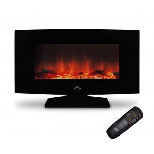 Image of FP5100TB Caminetto elettrico da parete DCG ultrapiatto con telecomando 1500 W 8017874576090