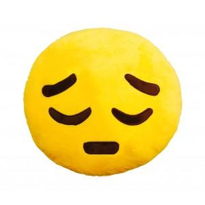 Image of 557317A Cuscino faccino triste giallo ø 30cm circa emoji pillow emoticon 8018794902129