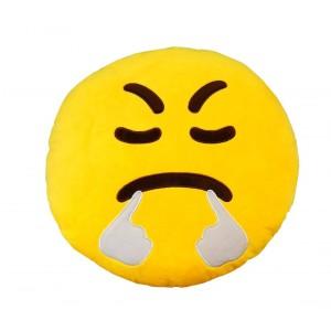 Image of 557315A Cuscino emoticon faccia che SBUFFA ø 30 cm circa giallo 6952552562571